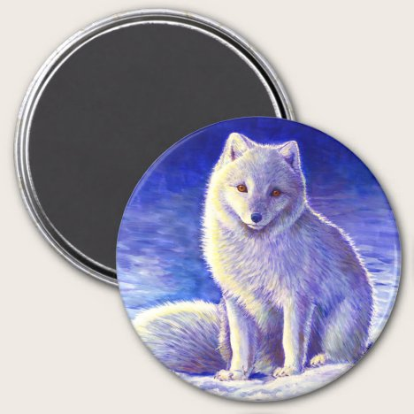Peaceful Winter Arctic Fox Magnet