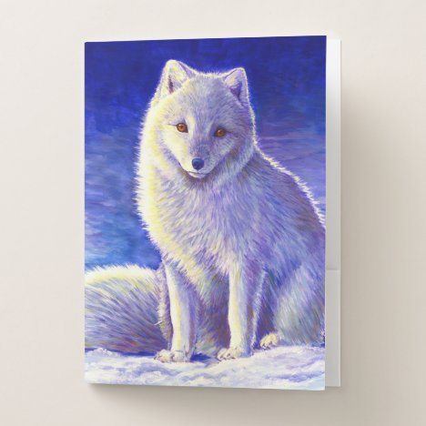 Peaceful Winter Arctic Fox Pocket Folder