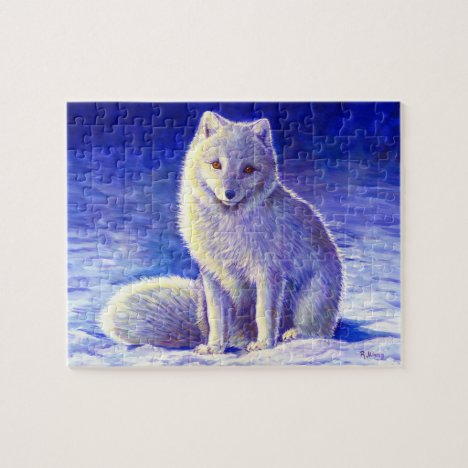 Peaceful Winter Arctic Fox Puzzle