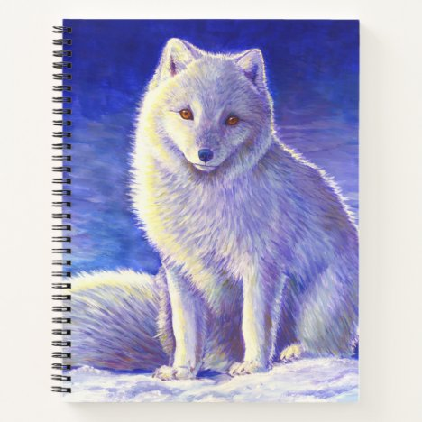 Peaceful Winter Arctic Fox Spiral Notebook