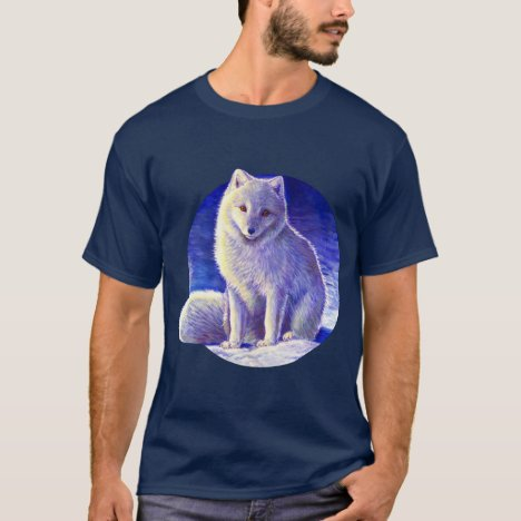 Peaceful Winter Blue Arctic Fox T-Shirt