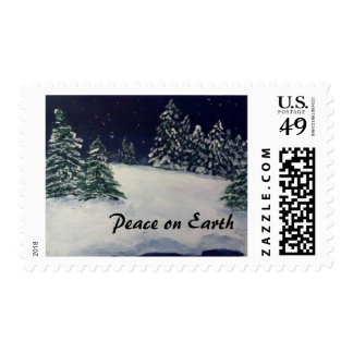 Peaceful Winter Evening Postage