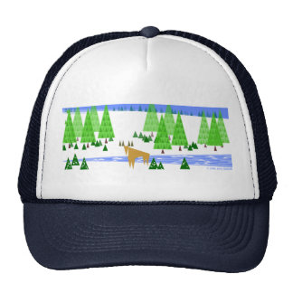 Peaceful Winter Mesh Hat