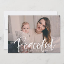 Peaceful Winter | Navy Holiday Photo Card