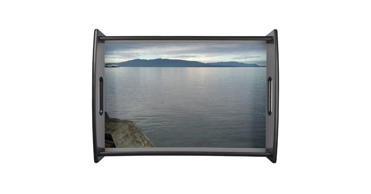 Peaceful Winter View of Bellingham Bay Serving Tray | Zazzle.com