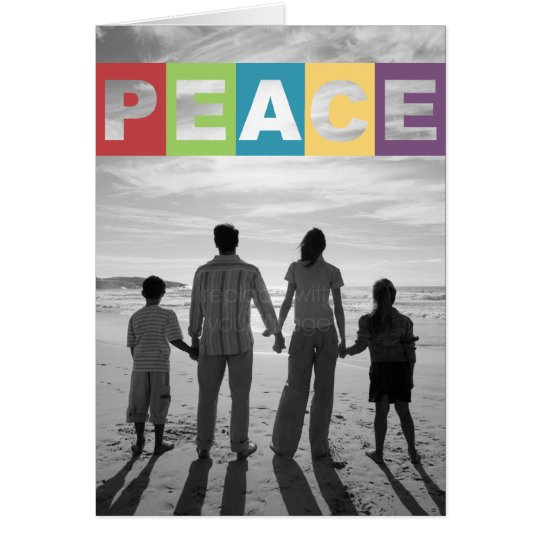 Peaceful Wishes Christmas/ Holiday Photo Card