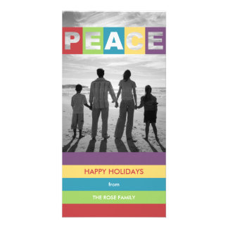 Peaceful Wishes Christmas Holiday Photo Cards Picture Card