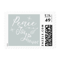 Peaceful Wishes Modern holiday Postage