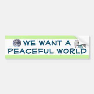 PEACEFUL WORLD bumper sticker