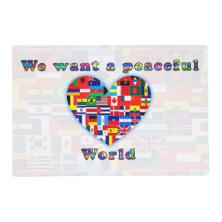 PEACEFUL WORLD laminated placemat