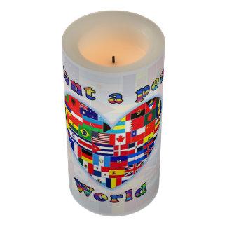 PEACEFUL WORLD LED candle