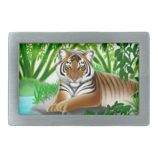 Peaceful Young Tiger Belt Buckle