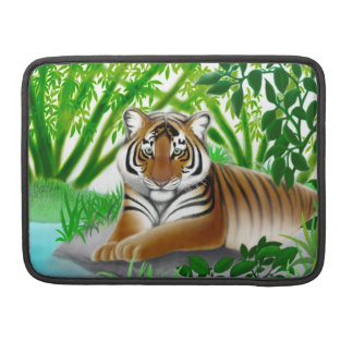 Peaceful Young Tiger Rickshaw Flap Sleeve
