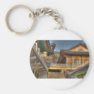 Peacefull Buddhist Temple Keychain