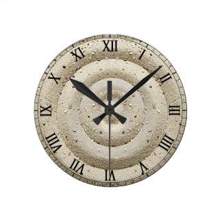 Peacefull sand swirls round clock