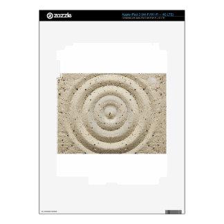 Peacefull sand swirls skin for iPad 3