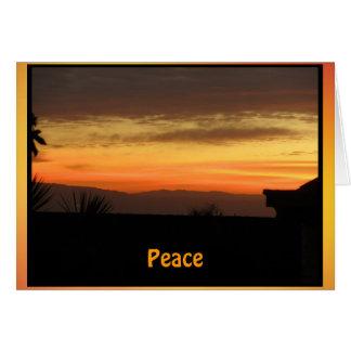 Peacefull Sunrise Card