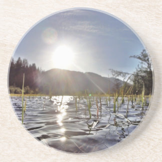 Peacefull Waters in Trout Lake Drink Coaster