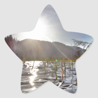 Peacefull Waters in Trout Lake Star Sticker