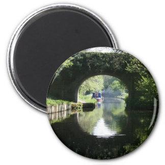 Peacefulness Blue Boat Llangollen Canal Fridge Magnets