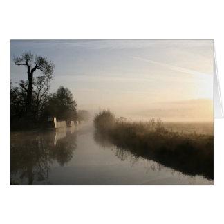 Peacefulness Llangollen Canal Sunrise Notecard Greeting Card