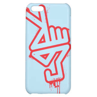 PeaceHand iPhone4 Case - blue iPhone 5C Covers
