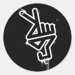 PeaceHand sticker - black