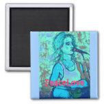 PeaceLove Acoustic Girl Fridge Magnets