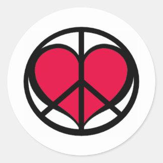 PeaceLove Classic Round Sticker
