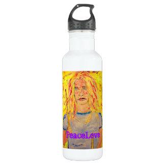 PeaceLove drummer girl 24oz Water Bottle