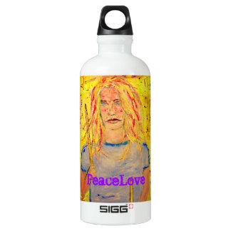 PeaceLove drummer girl Water Bottle