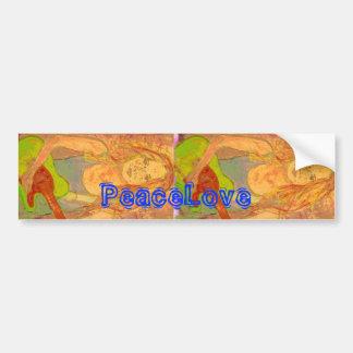 PeaceLove folk rock girl Bumper Sticker