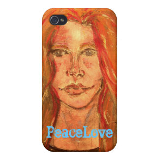 PeaceLove girl Case For iPhone 4