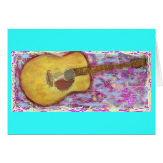 PeaceLove Guitar Art Card