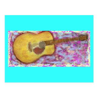 PeaceLove Guitar Art Postcard