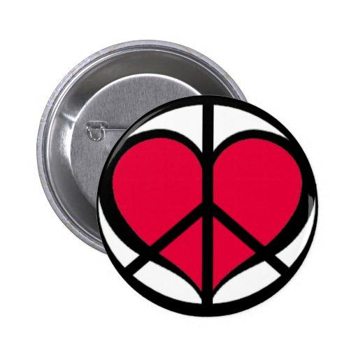 PeaceLove Pinback Buttons