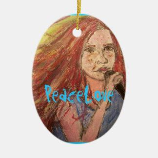 PeaceLove Rocker Girl Ceramic Ornament