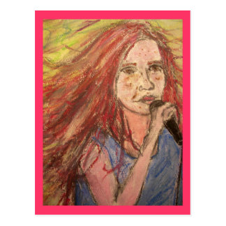 PeaceLove Rocker Girl Postcard