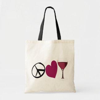PeaceLove&Wine Tote Bag