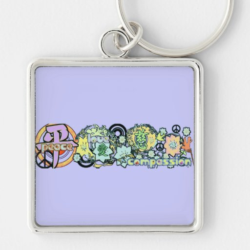 peacelovecompassion keychain