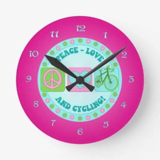 PeaceLoveCycleClock.png Round Clock