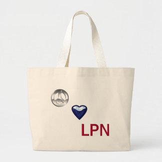 PeaceLoveLPN Bolsa Lienzo