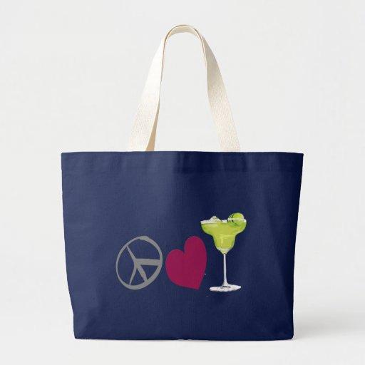 PeaceLoveMargaritas Beach Bag