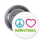 PEACELOVEsymbols-basketball. 2 Inch Round Button