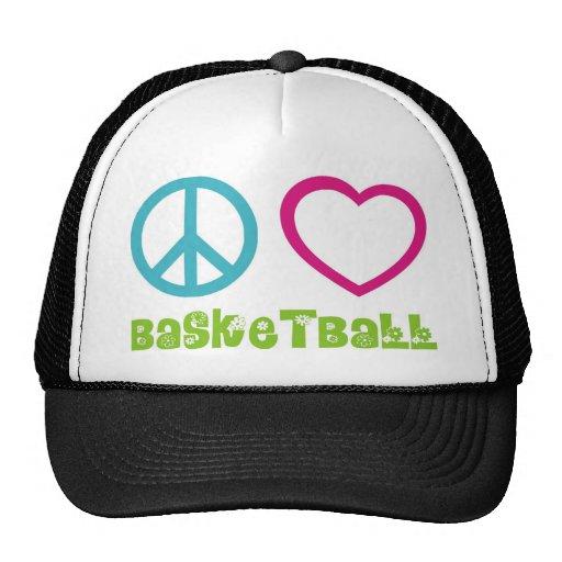 PEACELOVEsymbols-basketball. Gorro