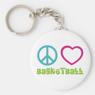 PEACELOVEsymbols-basketball. Keychain