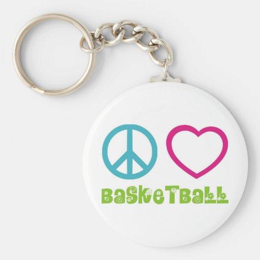 PEACELOVEsymbols-basketball. Llaveros Personalizados