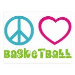 PEACELOVEsymbols-basketball. Postales