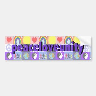 peaceloveunity Bumper Sticker Car Bumper Sticker