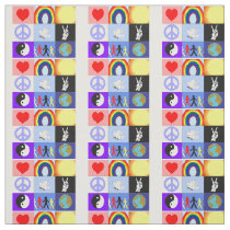"peaceloveunity Mosaic (56"" width) Fabric"